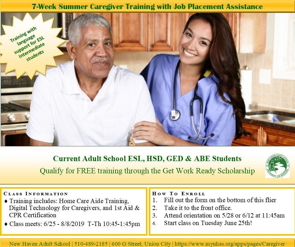 Residential & In-Home Care Training - Programs - New Haven Adult School