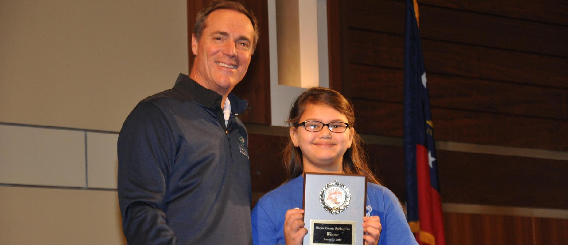 Leilah Bedford Wins District Spelling Bee!