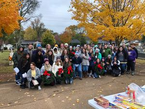 Student Council visits Maple Hill Cemetery
