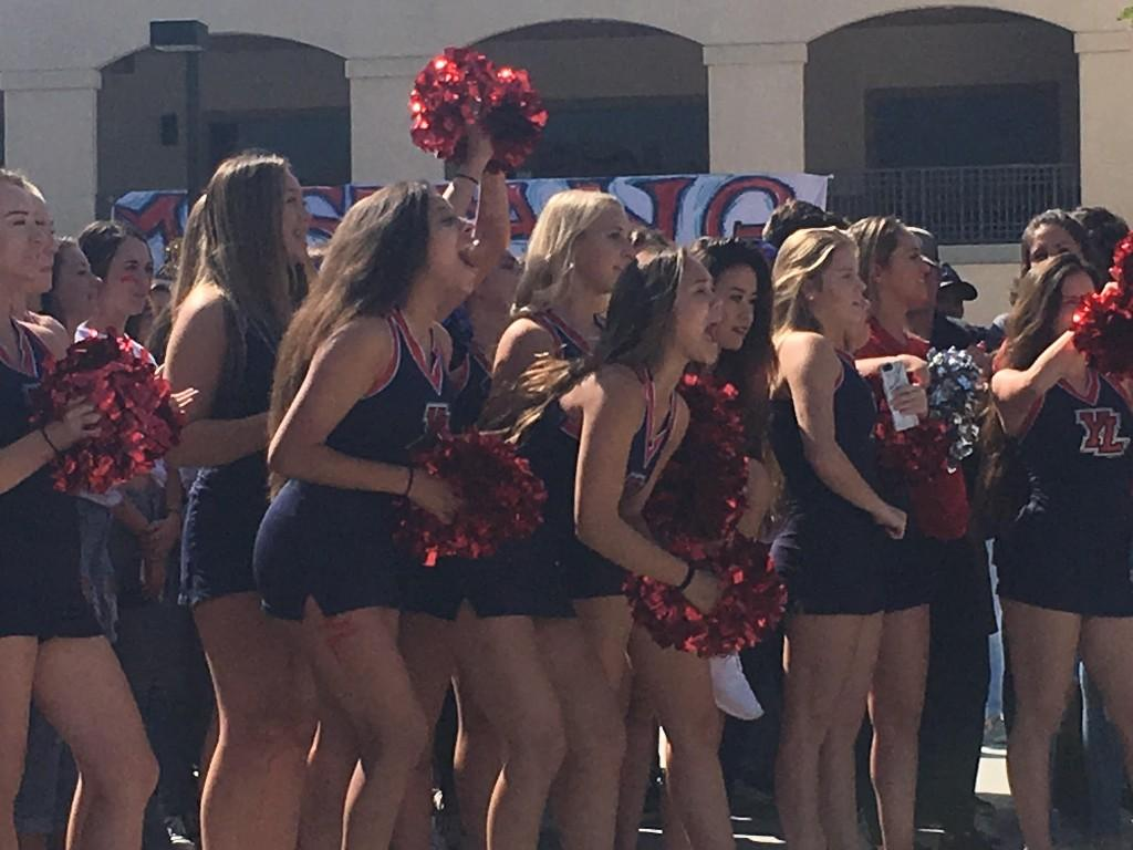 Cheer squad during rolling rally