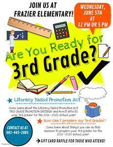 Frazier 3rd Grade Parent Meeting