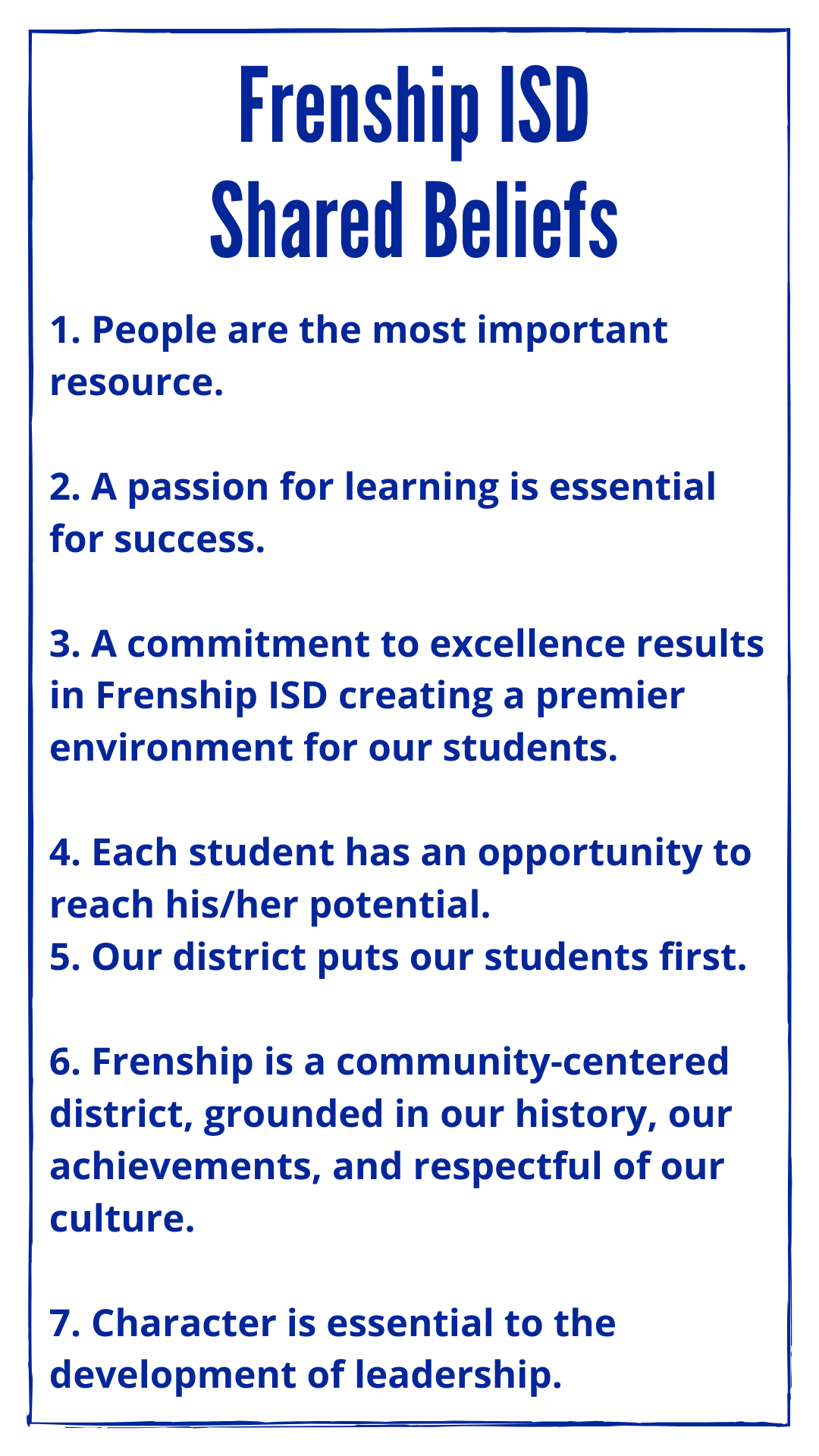 FISD Shared beliefs