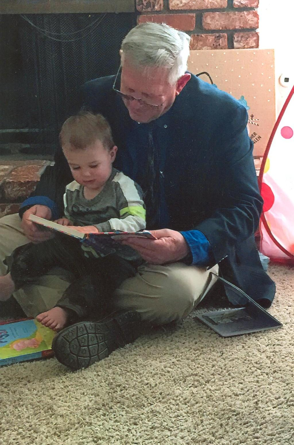 Mark reading to Asher
