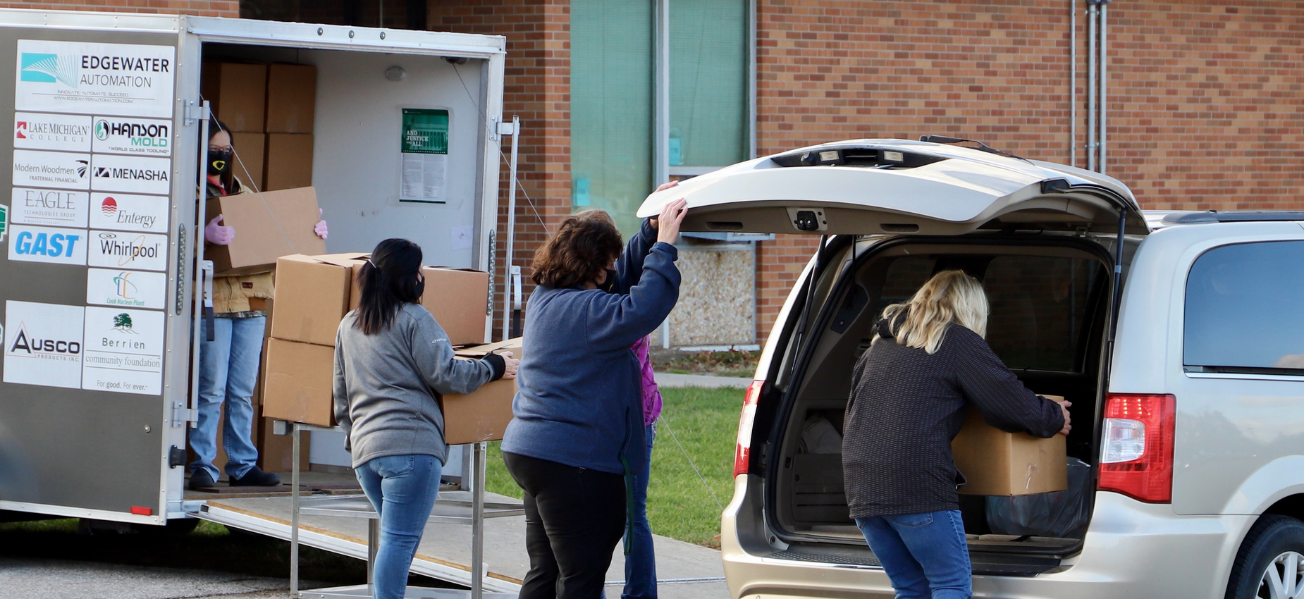 Food Service Loading a Van