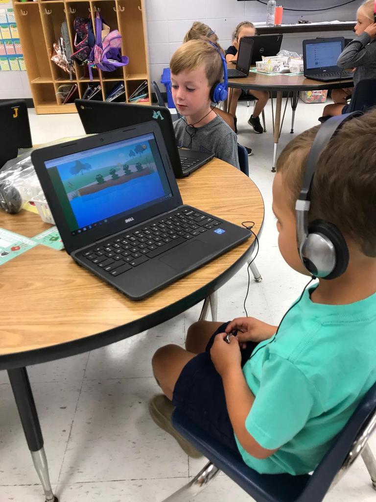 Kindergarten Computer Work