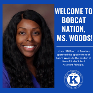 Welcome to bobcat nation, ms. Woods!.png