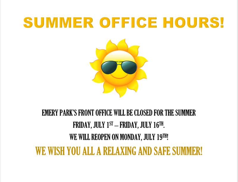 Summer Office Hours Flyer