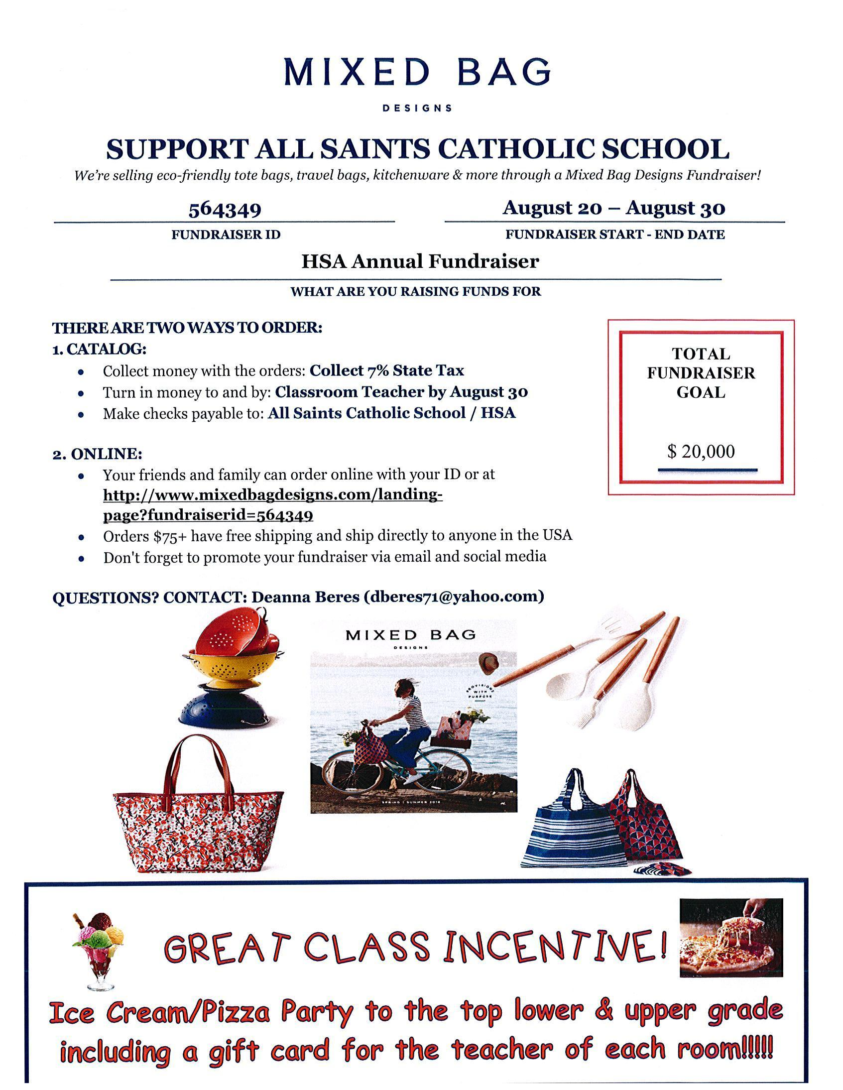 Mixed Bag Designs Fundraisers Events All Saints Catholic School