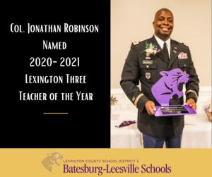 Lexington County School District Three Teacher of the Year