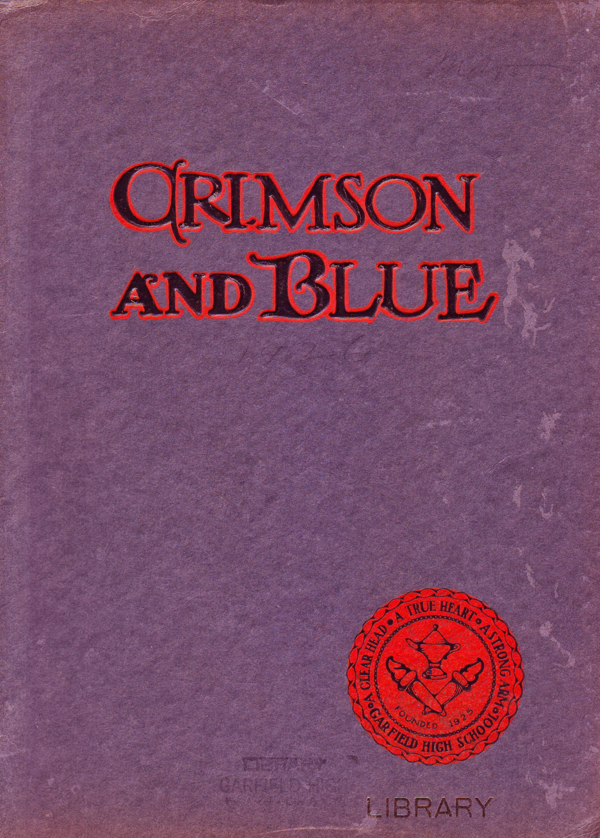 First Yearbook 1926