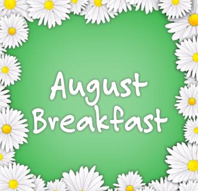 August Breakfast Menu Featured Photo