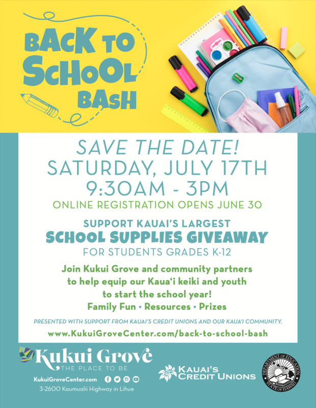 Save the Date for BACK TO SCHOOL BASH 2021 Thumbnail Image