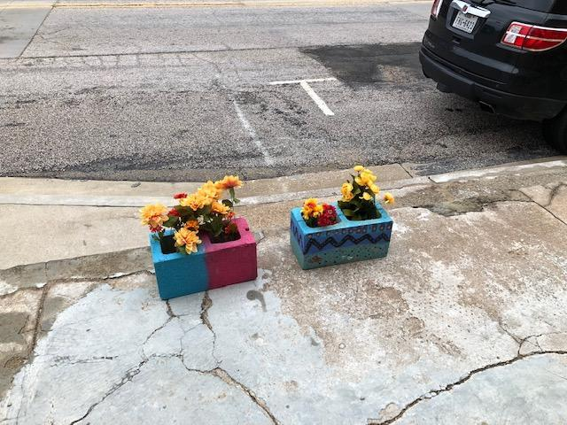 Planters placed downtown for Better Day