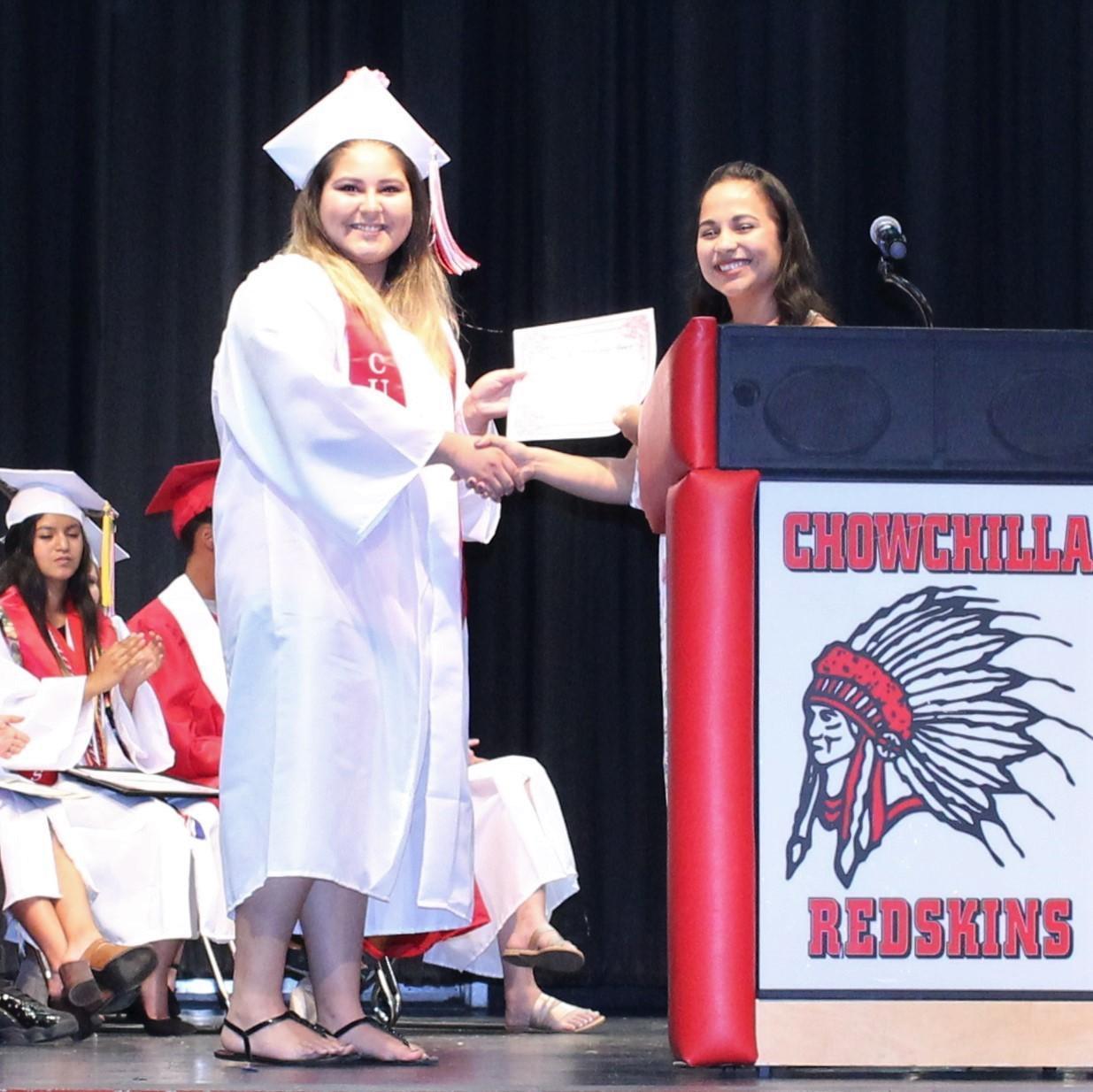 Alexandria Chavez, CUHS Guidance Counselor Priscilla Ramirez