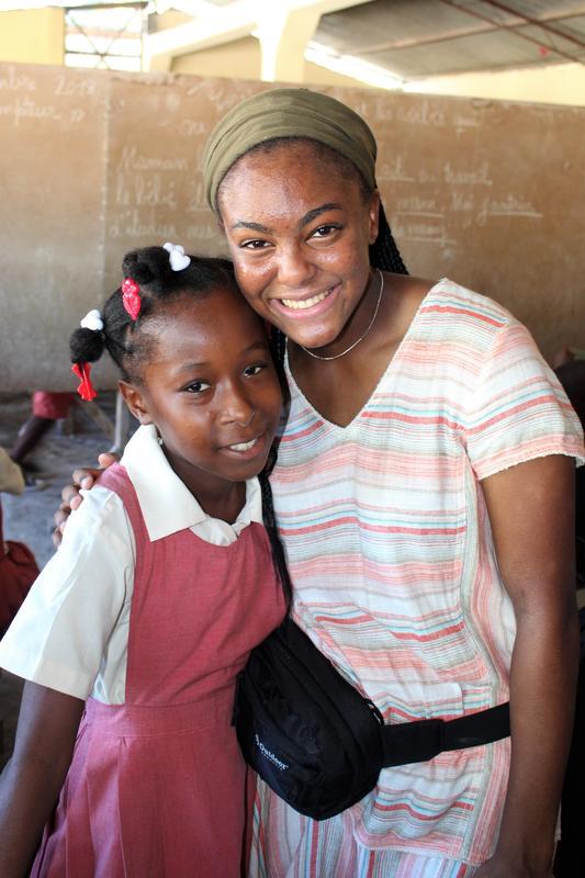 Teja Brown Haiti trip older girl