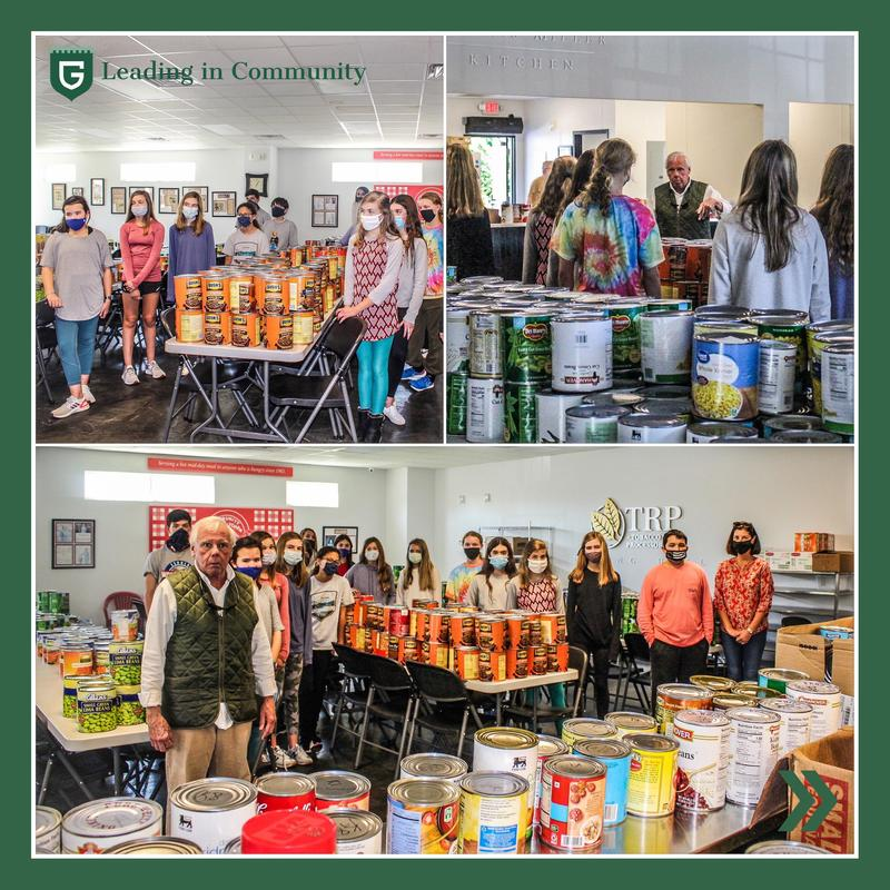 Middle School Community Service Club Food Drive A Success! Featured Photo