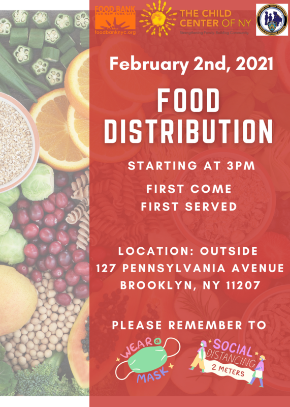 Child Center New York Food Distribution February 2 2021