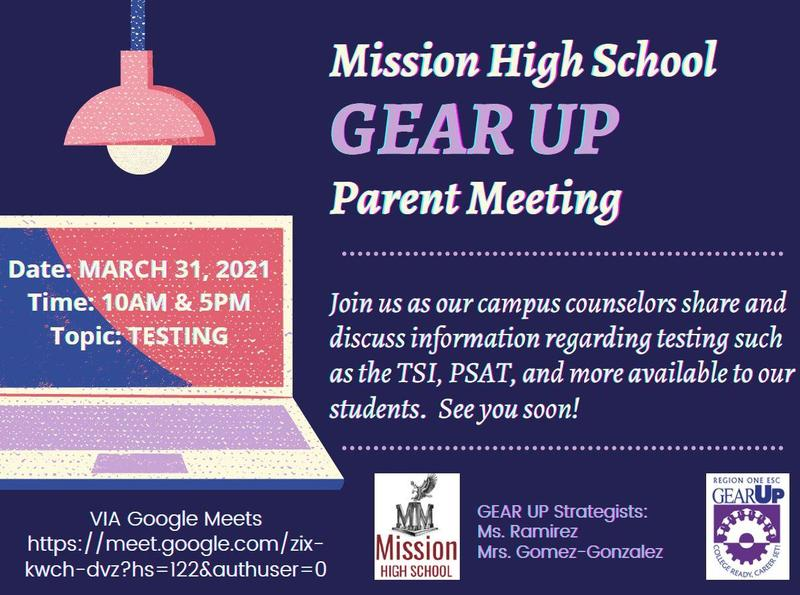 MHS Gear Up Parent Meeting Featured Photo