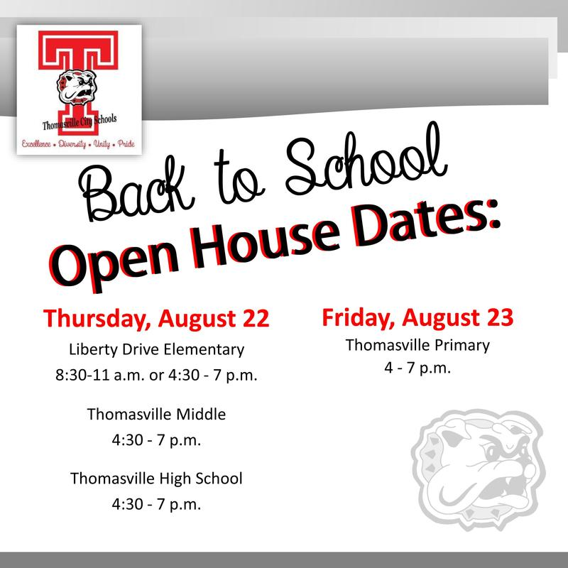TCS Open House Dates