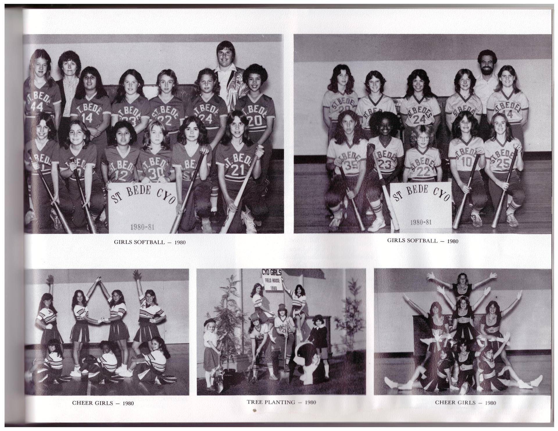 Our girls athletic teams in 1980.