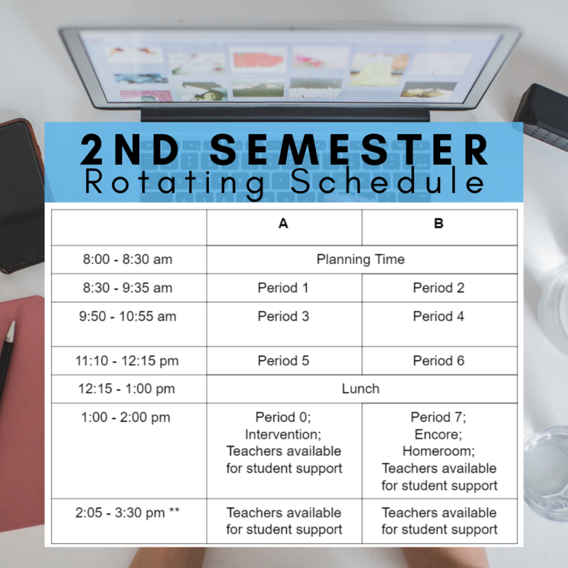 New 2nd Semester A/B Rotating Bell Schedule Featured Photo