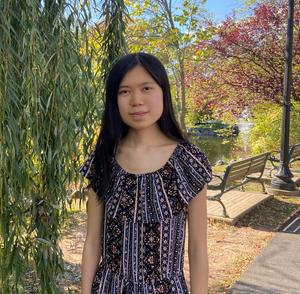 Photo of WHS 11th grader Lillian Qin who earned a perfect score on the Math subject test of the Nov 7 SAT.