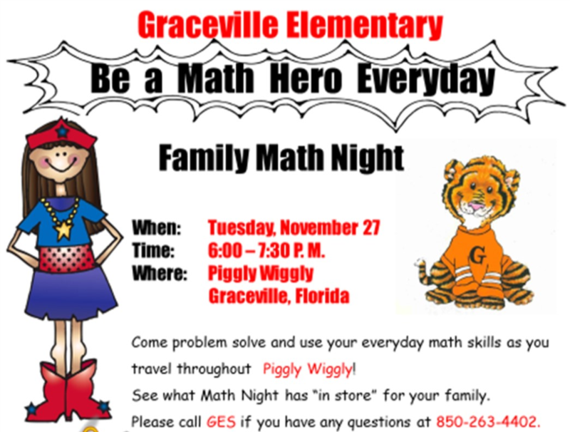 Math Night Invitation