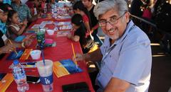 Mr. Ariaza at paint night