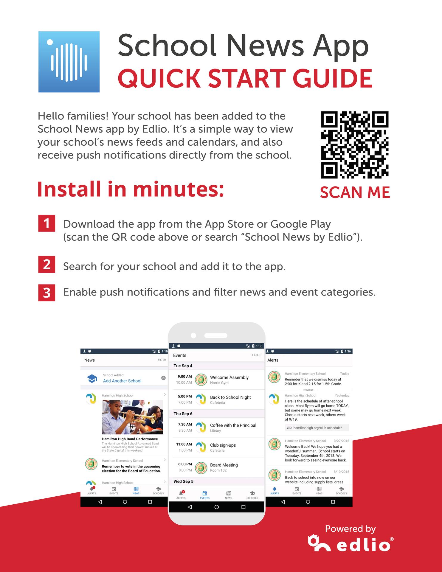 School news app infographic