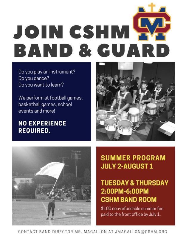 CSHM Band & Guard Summer Camp Thumbnail Image