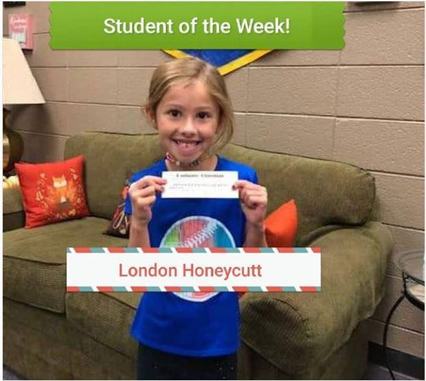 Student of the Week, London Huneycutt! Featured Photo