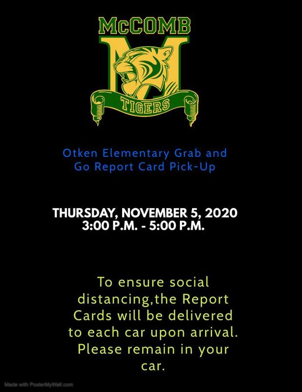 Otken Elementary Grab and Go Report Card Pick-Up News 2020