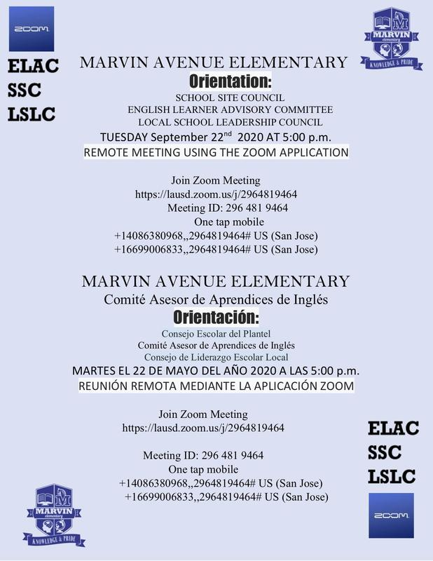 Orientation for SSC, ELAC, LSLC Thumbnail Image