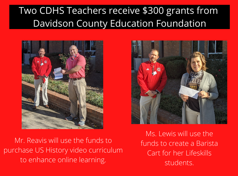 DCAE Grant Winners Mr. Reavis & Mrs. Lewis