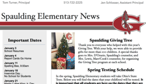 Spaulding Elementary School January 2019 Newsletter