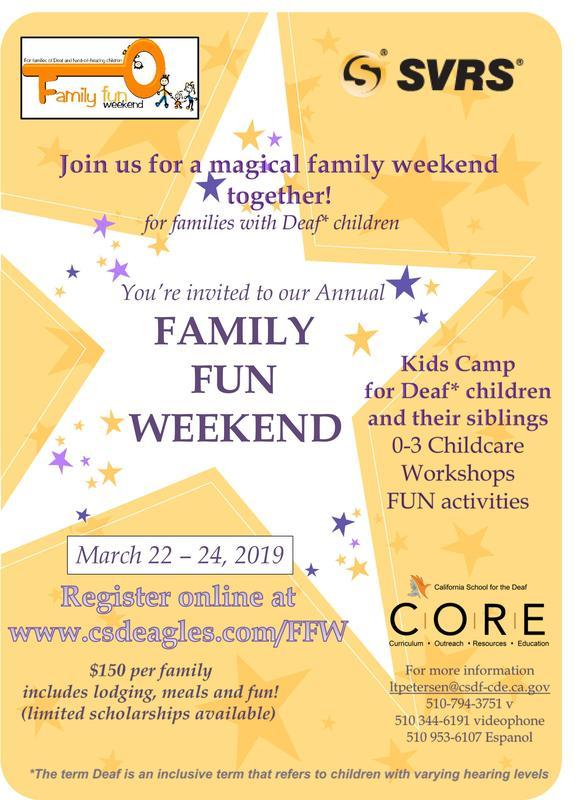 Kid's Camp for Deaf children & their siblings plus family Workshops