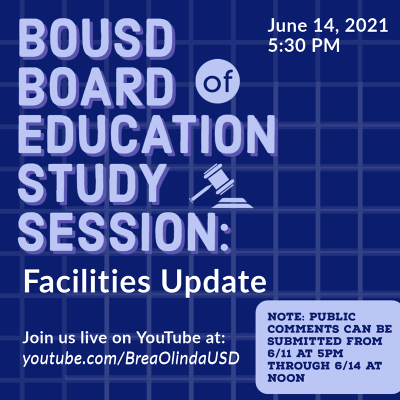 Board of Education Study Session Graphic