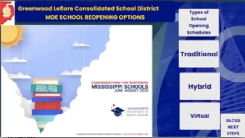 GLCSD- Reopening Options for the 2020-2021 School Year Proposed by Mississippi Department of Education Featured Photo