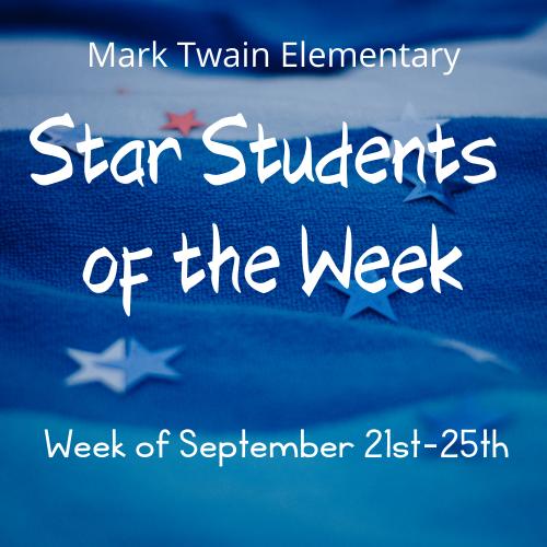 Mark Twain Star Students of the Week Image