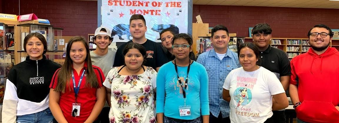 2019-2020 Student of the Month Picture