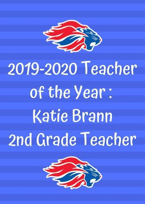 Teacher of the Year: Katie Brann