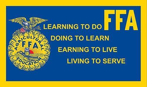 FFA. learning to do doing to learn earning to live living to serve