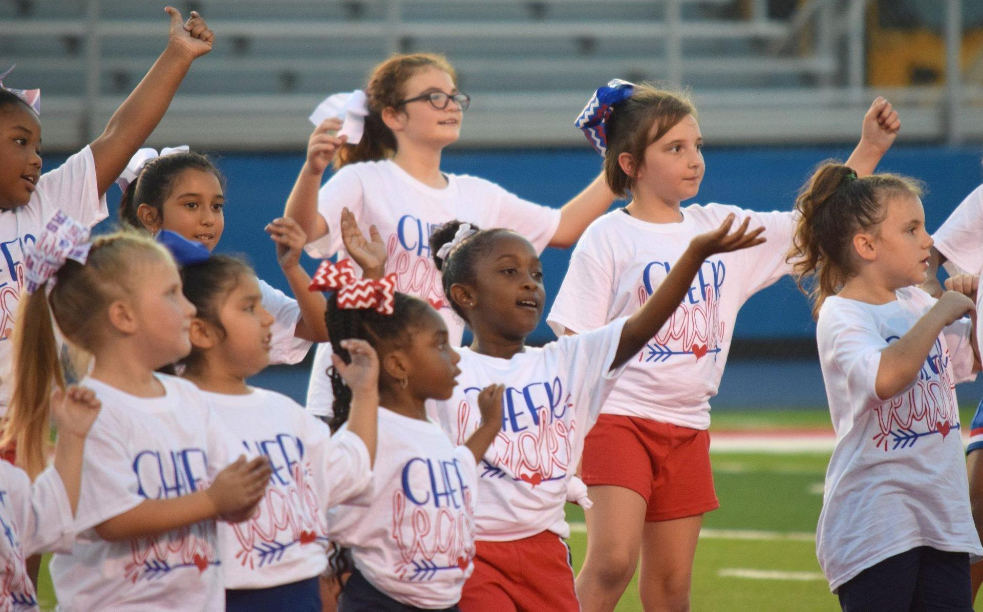 Little Panther Cheerleaders Show Their Panther Pride