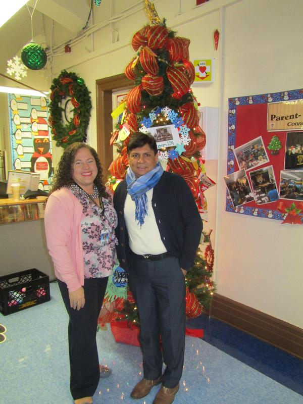 Solangie Ramirez Teacher of the year and jose Vacca service professional