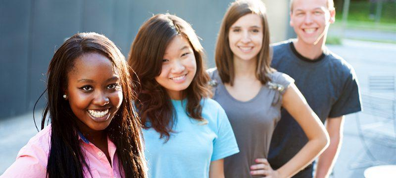 Students in line