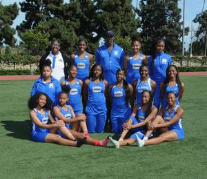Girls high school track team