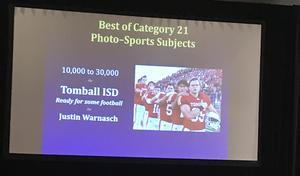 Sports photo award