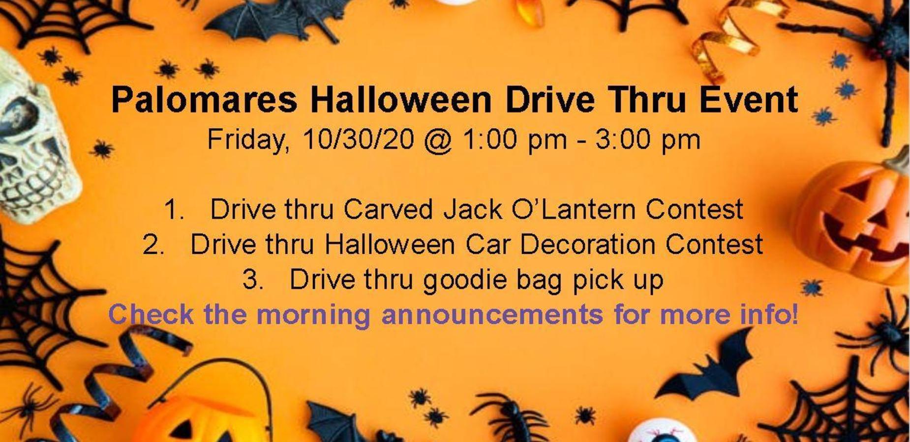 Palomares Halloween Drive Thru