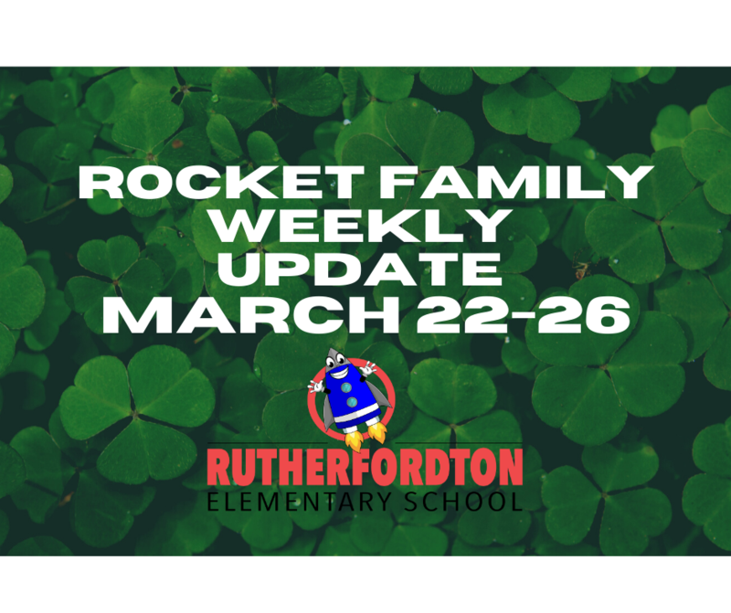 Rocket Family Newsletter - Week of March 22-26 Featured Photo