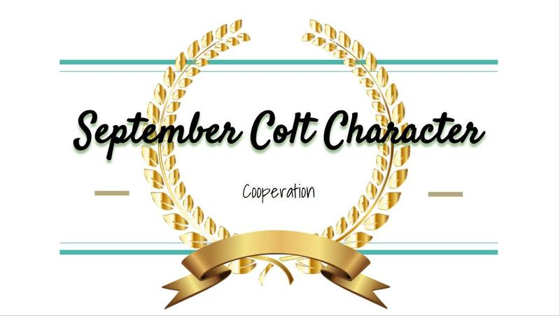WSMS Announces September Colt Character Awards! Featured Photo